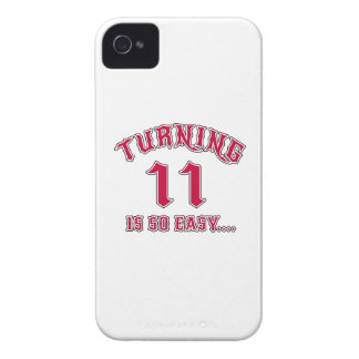 Turning 11 Is So Easy Birthday iPhone 4 Cover