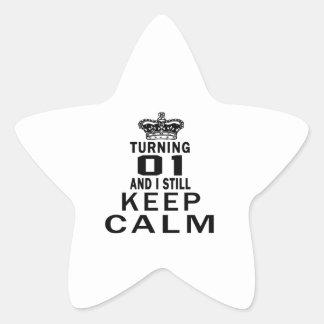 Turning 1 and i still keep calm star sticker