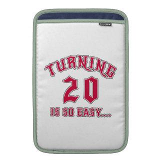 Turning 20 Is So Easy Birthday MacBook Air Sleeve