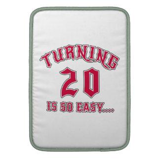 Turning 20 Is So Easy Birthday MacBook Air Sleeves