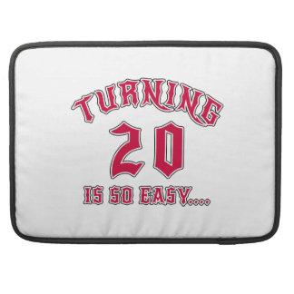 Turning 20 Is So Easy Birthday MacBook Pro Sleeves
