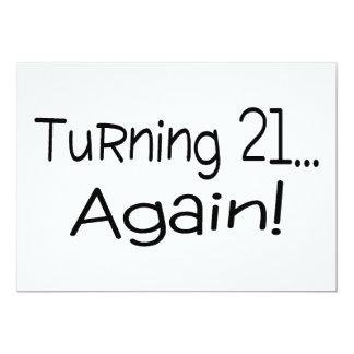 Turning 21 Again Card