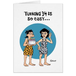 Turning 34 Birthday Card
