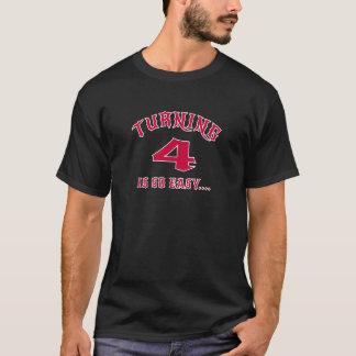 Turning 4 Is So Easy Birthday T-Shirt
