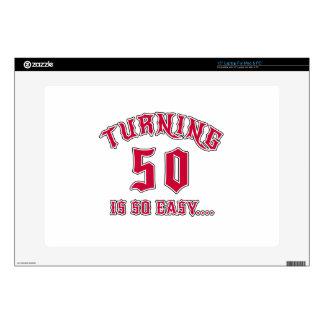 Turning 50 Is So Easy Birthday Laptop Skins