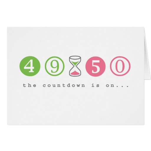 Turning 50 Years Old Greeting Card