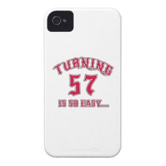 Turning 57 Is So Easy Birthday Case-Mate iPhone 4 Case