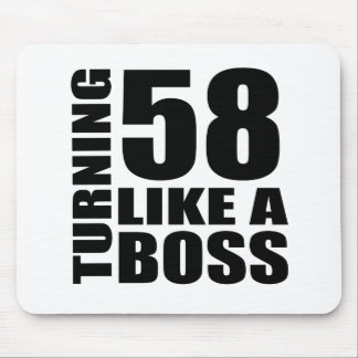 Turning 58 Like A Boss Birthday Designs Mouse Pad