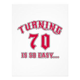 Turning 70 Is So Easy Birthday Letterhead