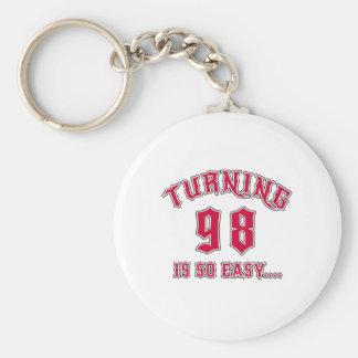 Turning 98 Is So Easy Birthday Basic Round Button Keychain