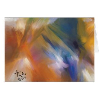 Turning a New Leaf Abstract Art Greeting Card