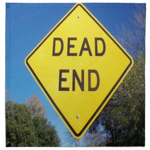 Turning around is also success - dead end napkin