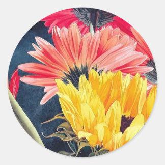 """Turning Away"" Flower Art Sticker"