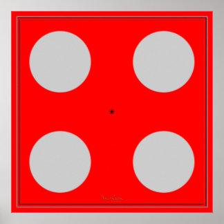 Turning Blue Optical Illusion Poster