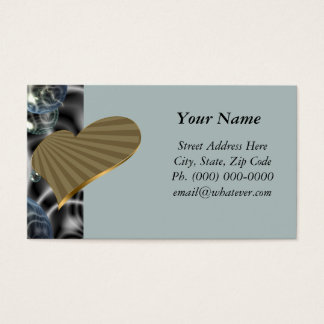 Turning Gold Heart Business Card