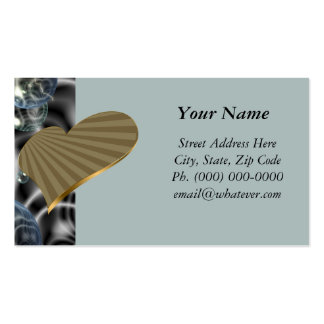 Turning Gold Heart Business Card Template