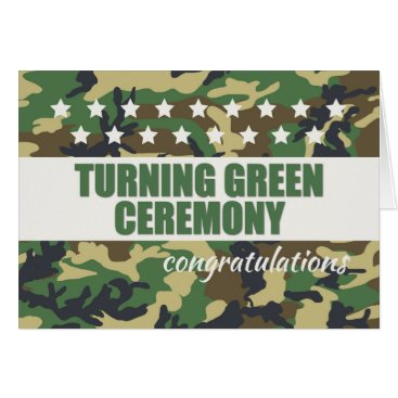 Turning Green Ceremony Congratulations with Stars Card