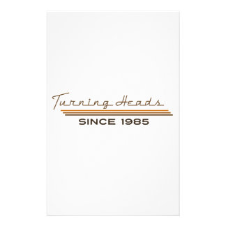 Turning heads since 1985 stationery paper