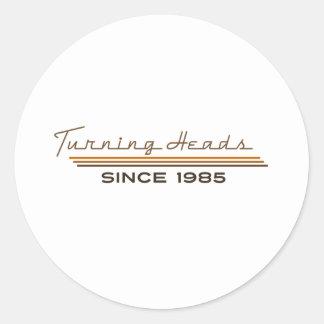 Turning heads since 1985 sticker