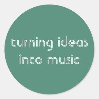 Turning Ideas Into Music Sticker