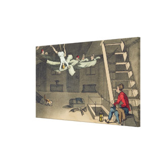 Turning in - and out again, plate from 'The Advent Canvas Print
