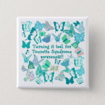 Turning it teal for Tourette Syndrome awareness Pinback Button