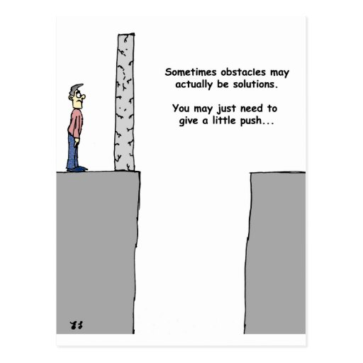 Turning Obstacles into Solutions Postcard
