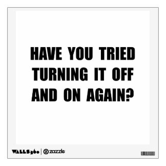 Turning Off On Wall Decal