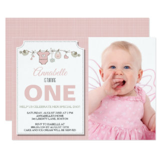Turning One Birthday Invitation