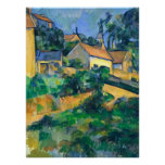 Turning Road at Montgeroult by Paul Cezanne Poster