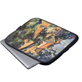 Turning Road at Montgeroult Laptop Case Computer Sleeve