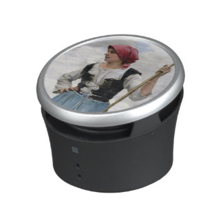Turning the Hay (oil on canvas) Speaker