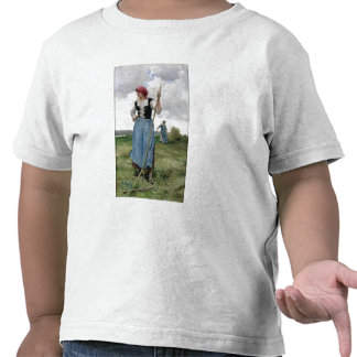 Turning the Hay (oil on canvas) Shirts