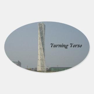 Turning Torso Building - Malmö Sweden Oval Sticker