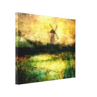 Turning Windmill Canvas Print