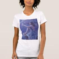 faery, fantasy, digital, art, moon, snow, winter, esbat, wicca, Camiseta com design gráfico personalizado