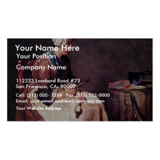 Turnip Cleaner By Chardin Jean-Baptiste Siméon (Be Double-Sided Standard Business Cards (Pack Of 100)