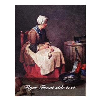 "Turnip Cleaner By Chardin Jean-Baptiste Siméon (Be 8.5"" X 11"" Flyer"