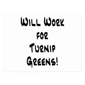 Turnip Greens Postcard
