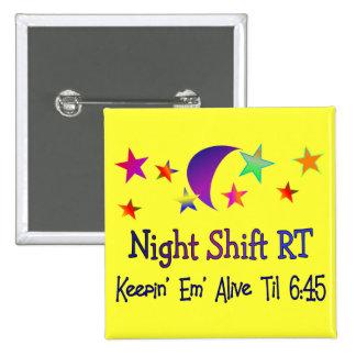 Turno de noche RT--Regalos respiratorios divertido Pin Cuadrada 5 Cm