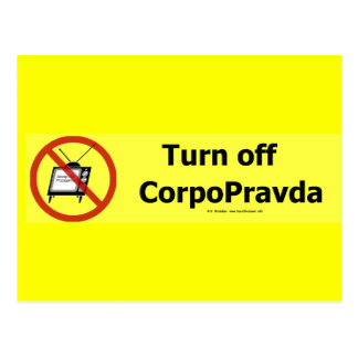 TurnOffCorpoPravda Postcard