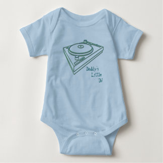 turntable 7, Daddy's  Little DJ Baby Bodysuit