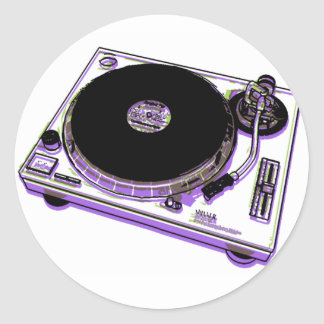 Turntable Classic Round Sticker