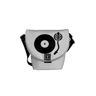 Turntable DJ Messenger Bag