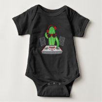 Turntable DJ Music Pickle Electronic Rave Musician Baby Bodysuit