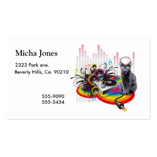 Turntable DJ Pumpin Music Cat Business Card