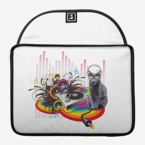 Turntable DJ Pumpin Music Cat Sleeve For MacBooks