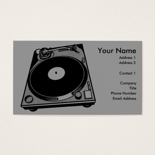 Turntable Graphic Business Card