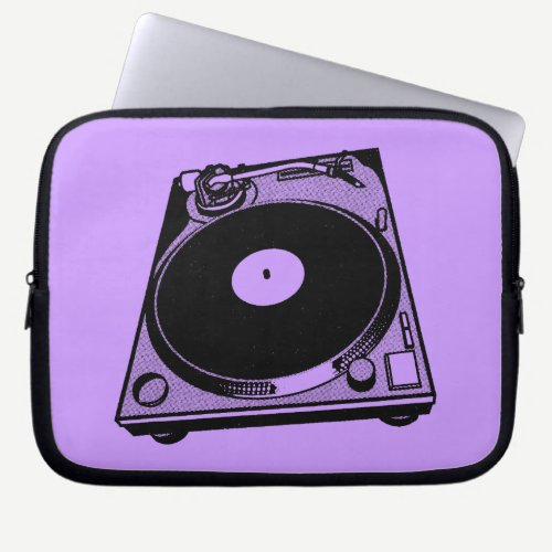 Turntable Graphic Computer Sleeve