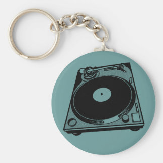Turntable Graphic Keychain